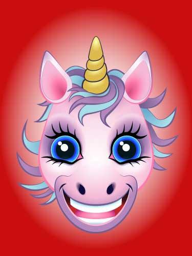URU Unicorn digital artwork Pink