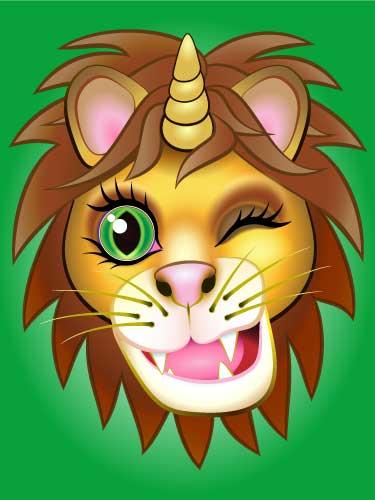URU Unicorn digital artwork Lion