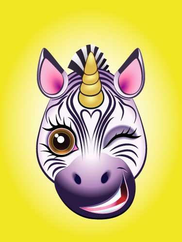URU Unicorn digital artwork Zebra