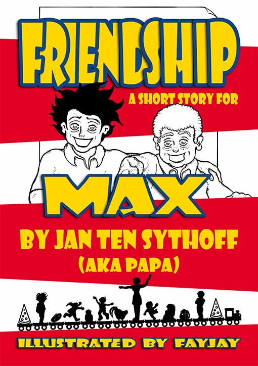 Digital illustration of Friendship: A Short Story for Max by Jan Ten Sythoff (aka Papa) Illustrated by Fay Jay.