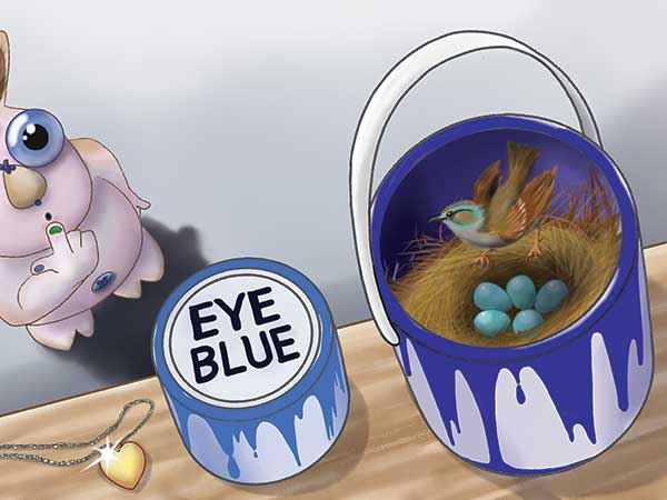 Digital illustration for Yggy Looking For My Eye, picture book written and illustrated by Jeff West.