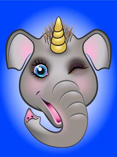 URU Unicorn digital artwork elephant